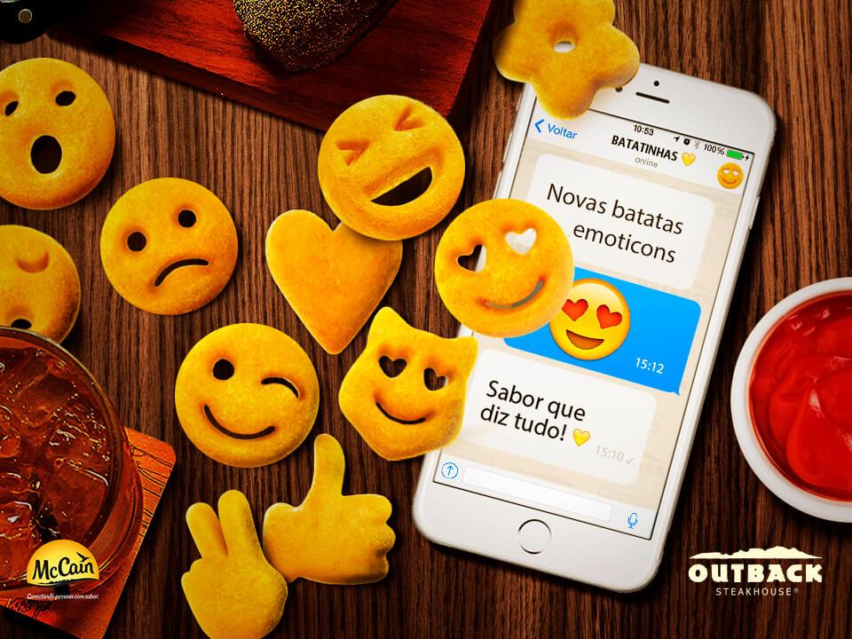 Outback e McCain lançam batatas inspiradas nos famosos emoticons das redes socias