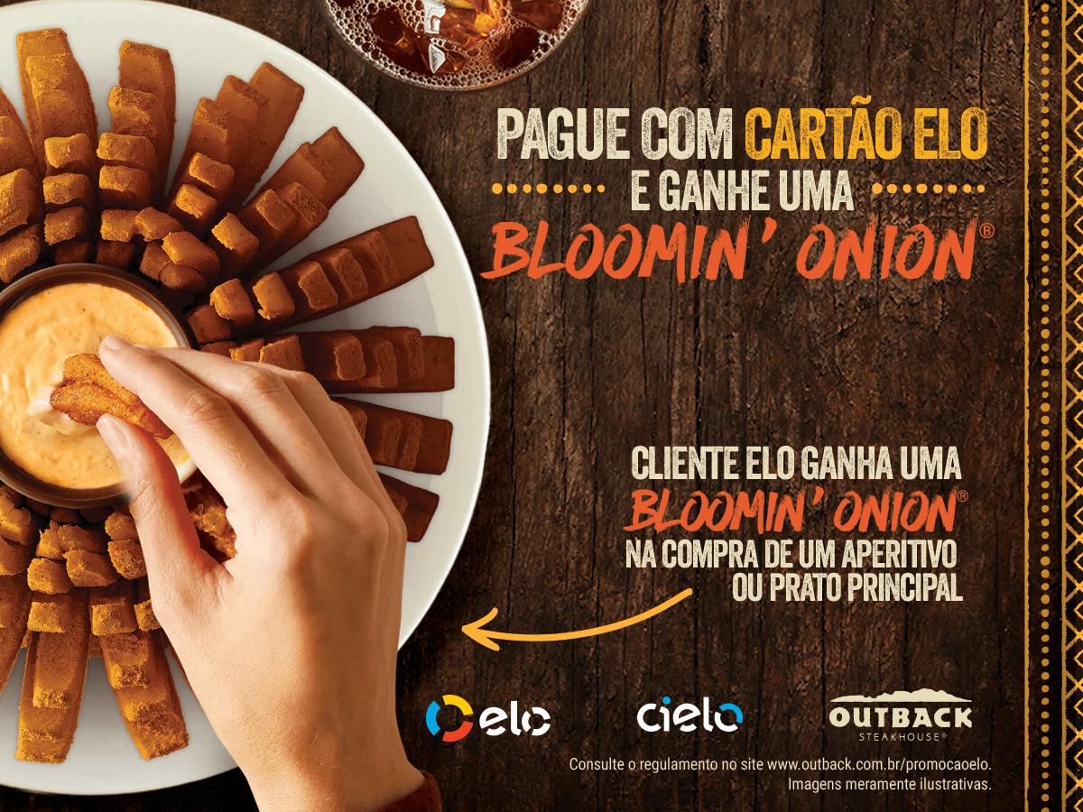 Outback e ELO presenteiam clientes com a famosa cebola Bloomin' Onion®