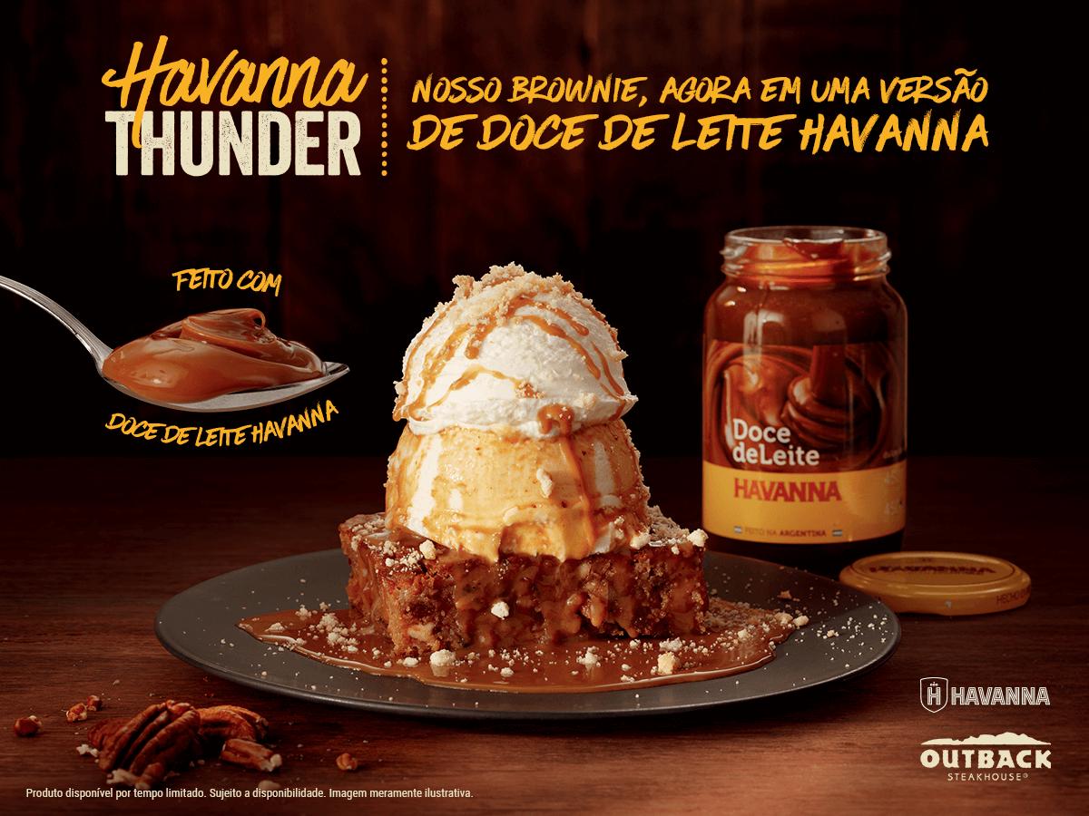 Hummm! Outback lança sua famosa sobremesa com brownie na versão doce de leite