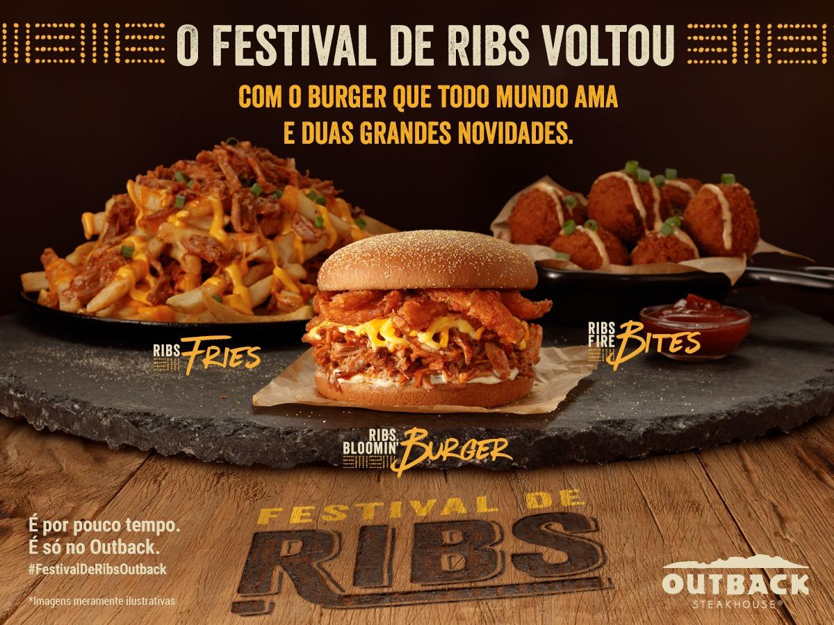 Outback lança segunda edição do Festival de Ribs com novas receitas da famosa costela suína